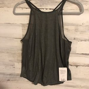 DARK GREEN CAMO LULULEMON RUN OFF ROUTE TANK